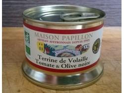 Terrine Bio de Volaille Tomate et Olive noire